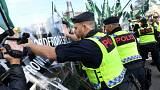 Swedish neo-Nazis clash with anti-fascists