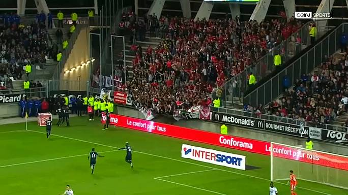 Fans hurt as French football barrier collapses