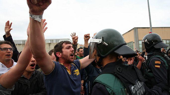 Katalonya'da olaylı referandum: En az 800 kişi yaralandı
