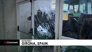 Riot police clamp down on Catalan independence referendum