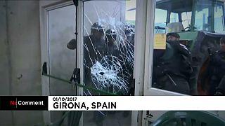 Katalonya'da olaylı referandum