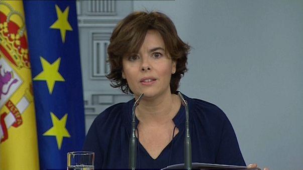 Spaniens Regierung lobt den Polizeieinsatz in Katalonien