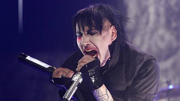 Rockstar Marilyn Manson injured as stage prop knocks him out