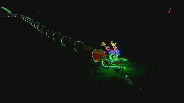 Festival degli aquiloni: giganteschi draghi luminosi accendono la notte di Taiwan
