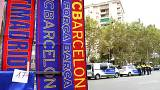 Amid referendum violence, FC Barca bags a silent victory