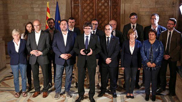 """""""Ganhámos o direito a decidir o próprio futuro"""" garantiu Puigdemont"""