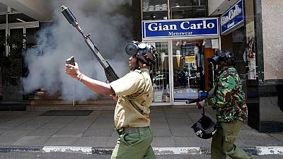 Teargas fired as Kenyan opposition protesters demand sack of EC officials