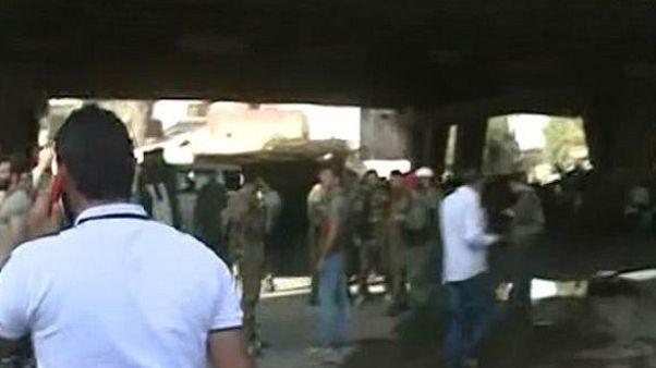 حمله انتحاری به یک ایستگاه پلیس در دمشق دستکم ۱۰ کشته برجای گذاشت