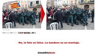 Hamisított képek, videók a katalán népszavazásról: a spanyol fél állítja, manipulálták a videókat