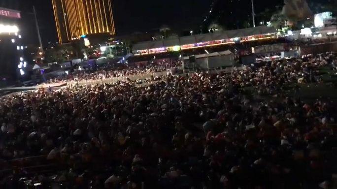 Las Vegas'ta korku dolu anlar amatör kameralarda
