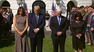 La Casa Blanca homenajea a las víctimas del tiroteo de Las Vegas