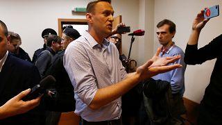 El líder opositor ruso, Alexei Navalni, condenado por llamar a manifestarse