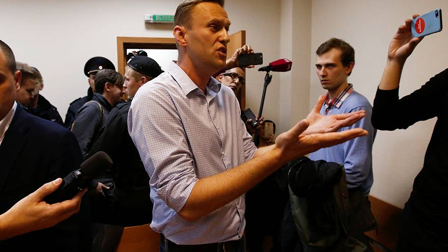 Jail sentence for Russian opposition leader