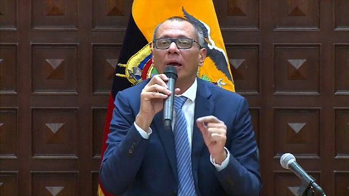 Vice do Equador em prisão preventiva por caso Odebrecht