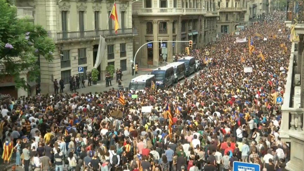 Каталонию парализовала всеобщая забастовка