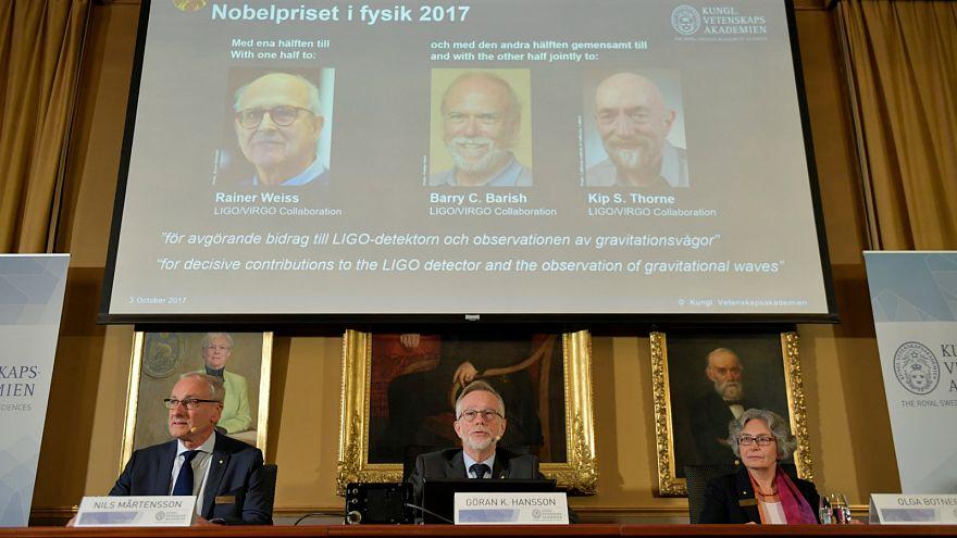 Le Nobel de physique attribué à trois Américains pour la détection des ondes gravitationnelles