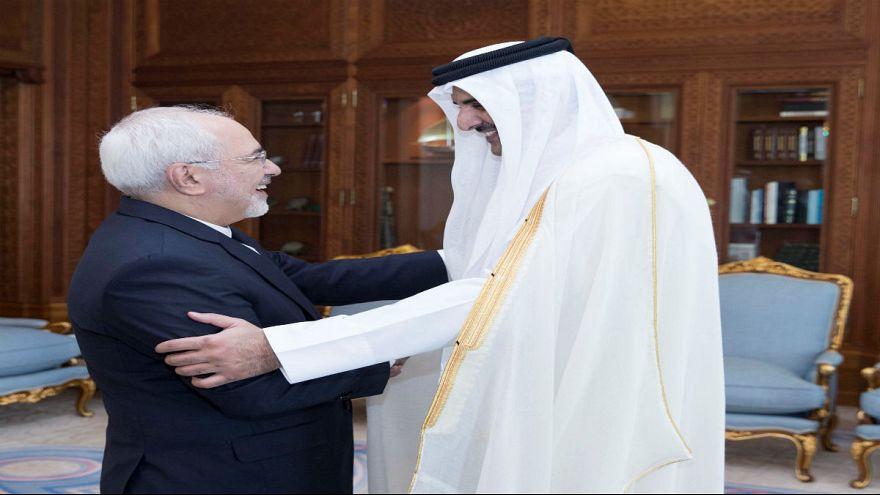 ظريف في الدوحة لأول مرة منذ وقوع الأزمة القطرية