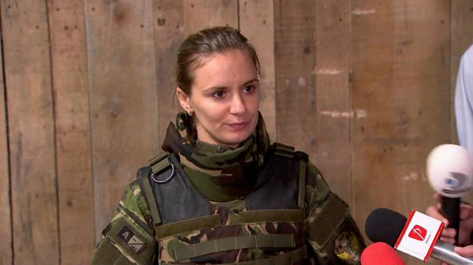Female soldiers get bulletproof vests adapted for their different shape