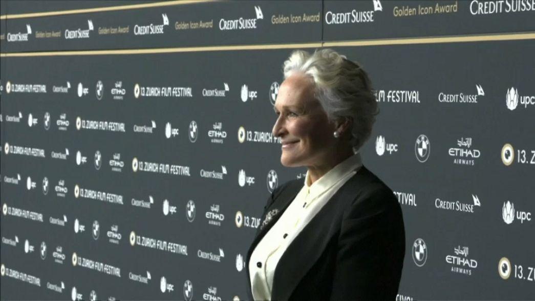 Életműdíjat kapott Glenn Close Zürichben