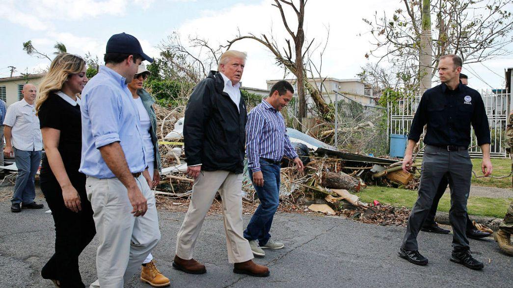 Visita pouco reconfortante de Trump a Porto Rico