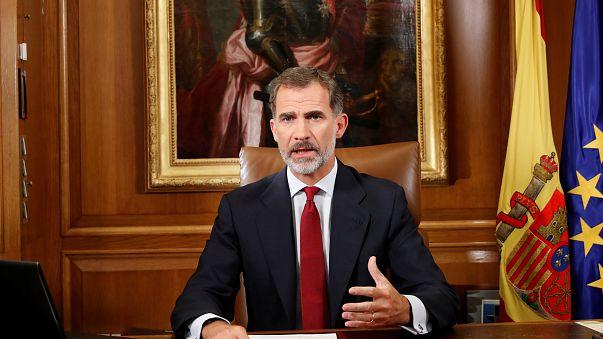 King Felipe accuses Catalan leaders of division