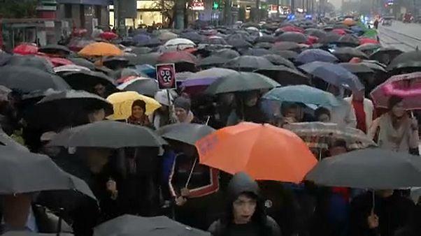 A nők jogaiért tüntettek Varsóban