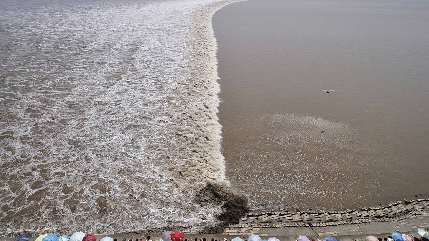 Dev gelgit dalgalarının gösterisi