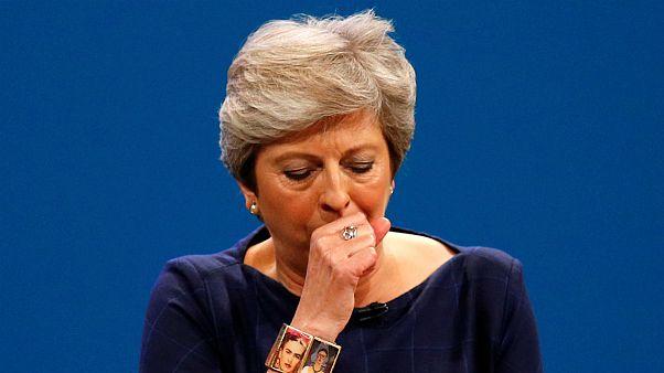 Bad day for May: British PM battles through nightmare speech