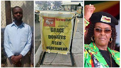 Grace Mugabe 'underwear donation' journalist released on $200 bail