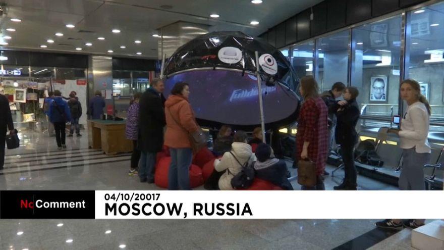 Мобильный планетарий в московском метро