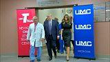 Trump meglátogatta a Las Vegas-i lövöldözés áldozatait