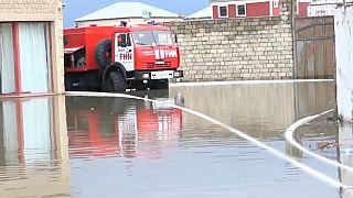 Наводнение в Апшеронском районе Азербайджана