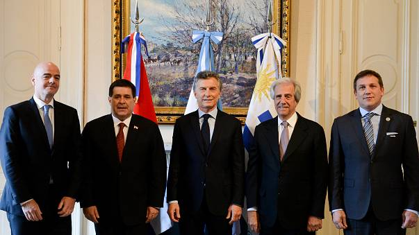 Argentina, Uruguay y Paraguay presentan candidatura conjunta para el Mundial 2030