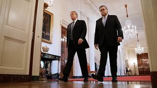 Image: President Donald Trump and Attorney General William Barr
