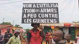 Protestos em Conacri contra o governo de Alpha Condé