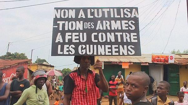 Gine'de 'adalet' gösterisi