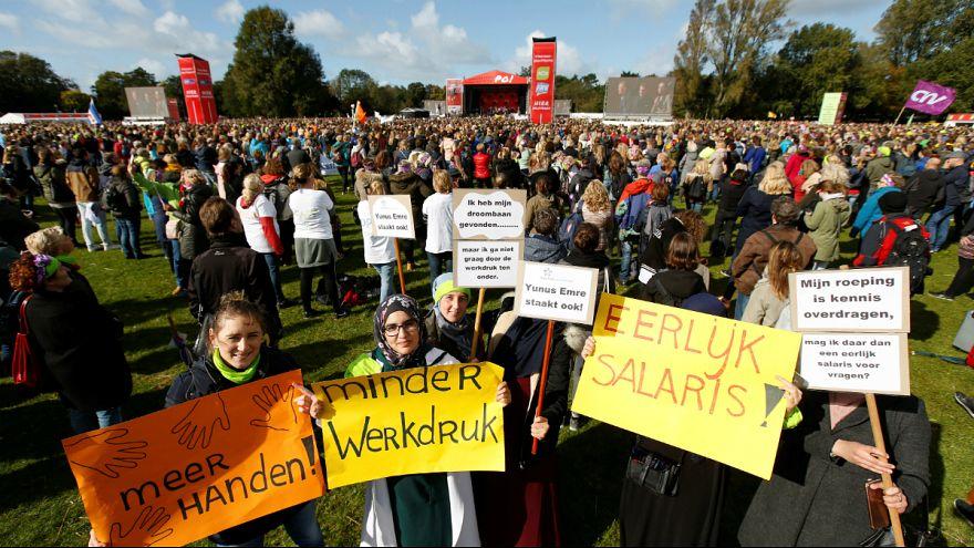 60 mil professores primários em greve na Holanda