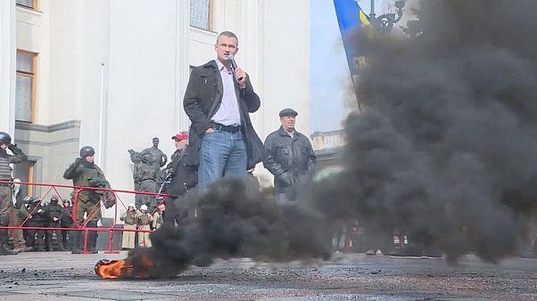 Nacionalista tüntetés Kijevben