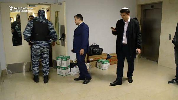 Registro policial en la sede de Open Rusia