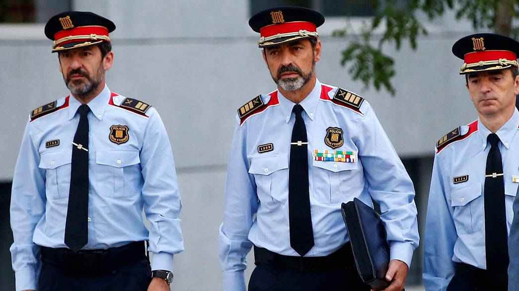 Under investigation for sedition: top Catalan officials in court
