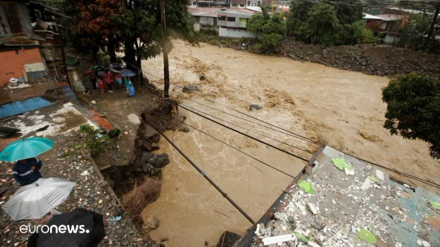 Река Тириби вышла из берегов