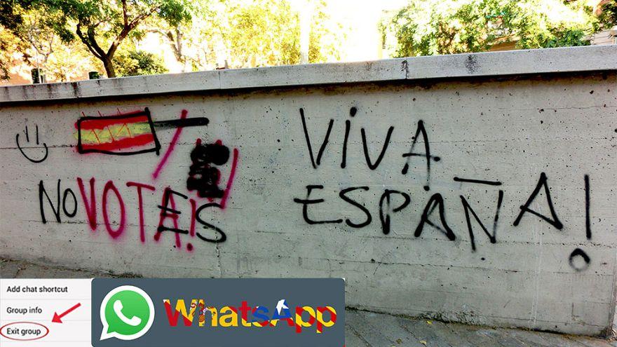 La independencia de Cataluña divide a las familias - En Whatsapp y las redes sociales