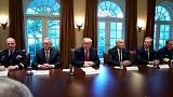"""Ruhe vor dem Sturm"": Trumps rätselhafte Aussage vor Militärberatern"