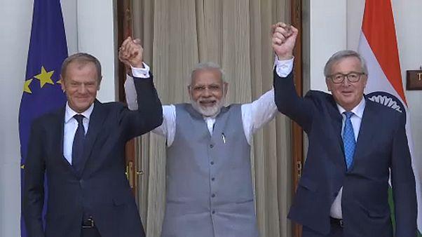 EU-Indien: 14. Gipfel in Delhi beschließt engere Zusammenarbeit