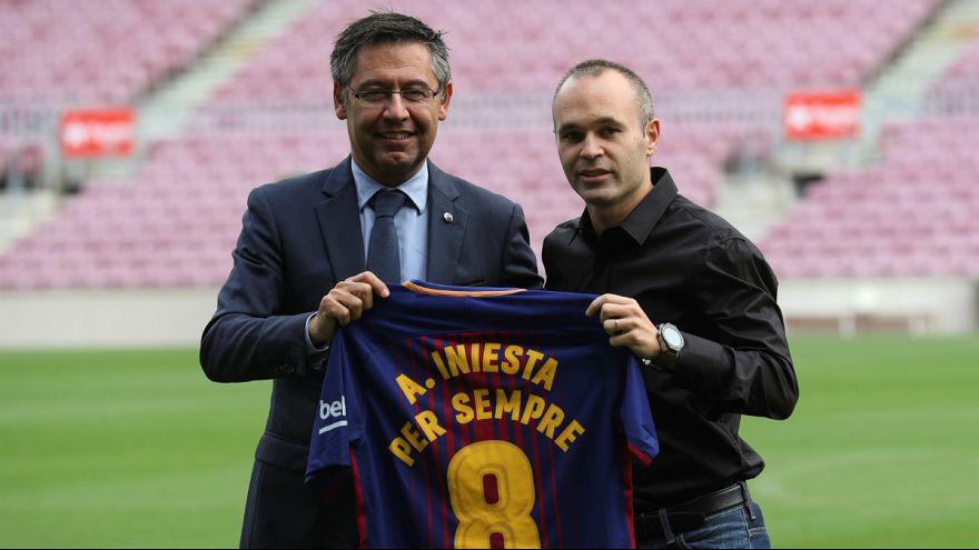 """André Iniesta """"para sempre"""" no FC Barcelona"""