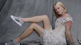 Swedish model's 'rape threats after hairy leg advert'