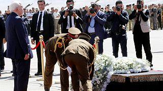 گزارش تصویری از مراسم تشییع جنازه جلال طالبانی