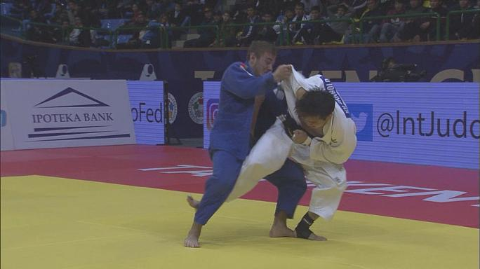 Dzimitry Minkou puts on golden performance at Tashkent Grand Prix