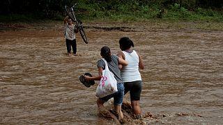 Nate deixa rasto de destruição na Nicarágua