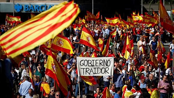 Tens of thousands rally in Madrid over Catalonia's push for independence